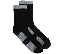 Socken mit Kontrastborte