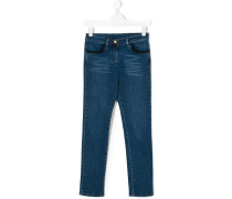 faded detail jeans