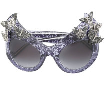 'The Queen' Sonnenbrille - women - Acetat/metal