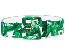 banana leaf print belt