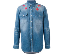 Jeanshemd mit Stern-Patches
