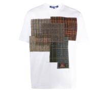 Kariertes Patchwork-T-Shirt