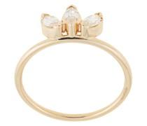 14kt 'Sun' Gelbgoldring mit Diamanten