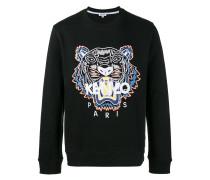 tiger appliqué sweatshirt