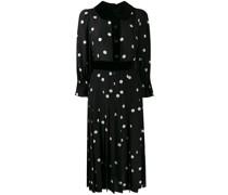 Gepunktetes Kleid mit Faltendetails