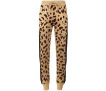 Jogginghose mit Leopardenmuster