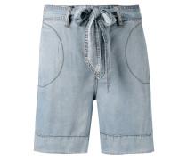 Jeans-Shorts mit Gürtel - women - Lyocell - 28