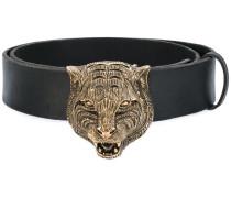 feline buckle belt - women - Kalbsleder - 90
