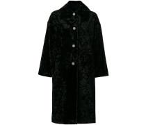 oversized embellished button coat