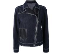 denim biker jacket - women - Baumwolle/Elastan