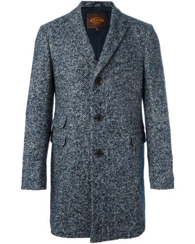 tod 39 s herren tweed mantel mit fischgr tenmuster reduziert. Black Bedroom Furniture Sets. Home Design Ideas