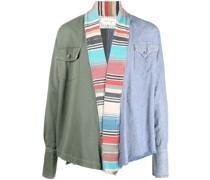 Drapierte Jacke in Colour-Block-Optik