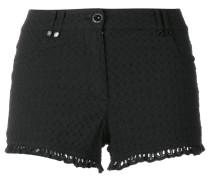 Shorts mit Rüschensaum - women - Baumwolle - 36