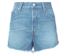 Taillenhohe Jeans-Shorts
