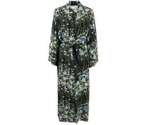 Peignoir buttercupfield floral-print silk wrap dress