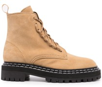 suede lug sole combat boots