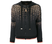 animalier tie-dyed hooded jacket
