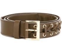 braided belt - men - Kalbsleder/Messing - 90
