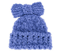 knitted bow beanie