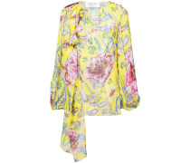 floral long-sleeve blouse