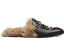 "'Princetown' Slipper mit ""Angry Cat""-Applikation"
