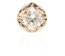 18kt Gelbgoldohrstecker mit Diamant - Metallic: