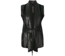 draped front gilet
