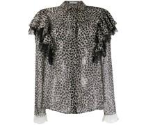 Bluse mit Geparden-Print