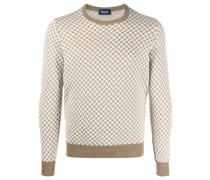 Pullover mit grafischem Intarsienmuster