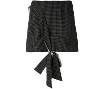 - Minirock mit Knotendetail - women - Baumwolle