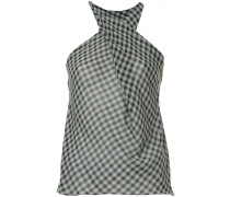 checked Georgette top