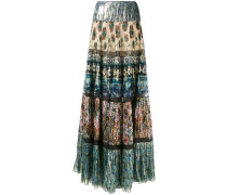- patch pleated maxi skirt - women