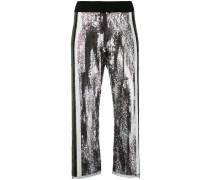 sequins embellished flared pants - women