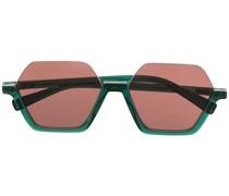Sechseckige Sonnenbrille