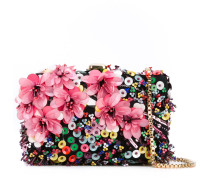floral clutch - women - Leder/Polyester/PVC