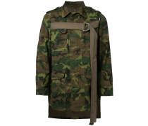 Asymmetrische Camouflage-Jacke