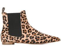Chelsea-Boots mit Leoparden-Print