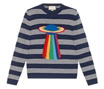 Planet intarsia striped sweater