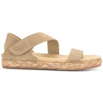 open-toe raffia-sole sandals