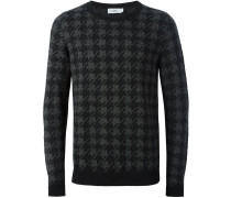 Pullover mit Hahnentrittmuster - men