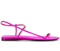Flache 'Bare' Sandalen aus Satin