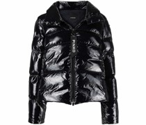 logo-zip puffer jacket
