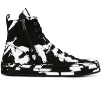 High-Top-Sneakers mit abstraktem Print