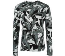 Sweatshirt mit Blätter-Print