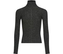 Lurex-Pullover mit Stehkragen