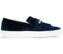Slip-On-Sneakers mit Fransen