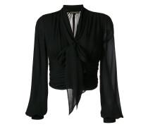 bishop sleeves cropped blouse