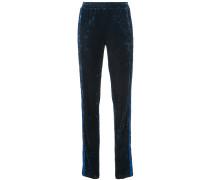 Starburst velvet track pants