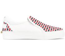 Sneakers mit überkreuztem Detail