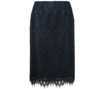 straight-fit lace skirt